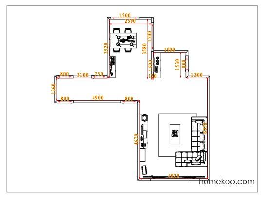 平面布置图柏俪兹系列客餐厅G0954