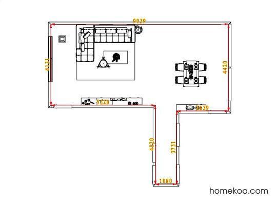 平面布置图贝斯特系列客餐厅G0957