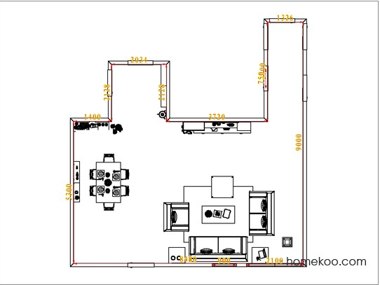 平面布置图斯玛特系列客餐厅G0979