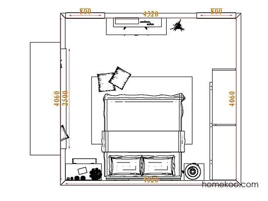 平面布置图柏俪兹系列卧房A3817