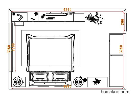 平面布置图柏俪兹系列卧房A3818