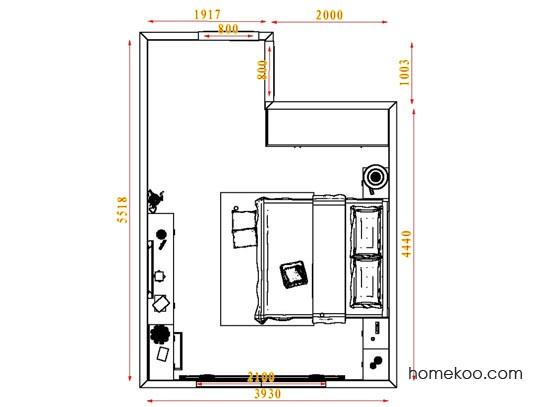 平面布置图柏俪兹系列卧房A3821