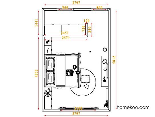 平面布置图贝斯特系列卧房A3823