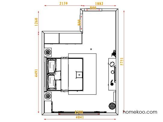 平面布置图贝斯特系列卧房A3824
