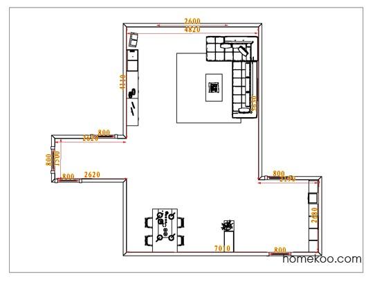平面布置图乐维斯系列客餐厅G0991