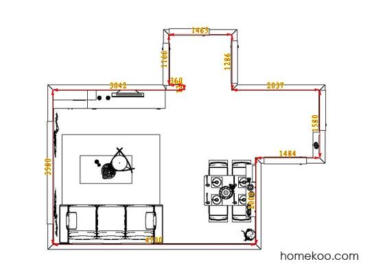 平面布置图柏俪兹系列客餐厅G1009