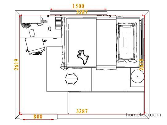 平面布置图乐维斯系列青少年房B3281