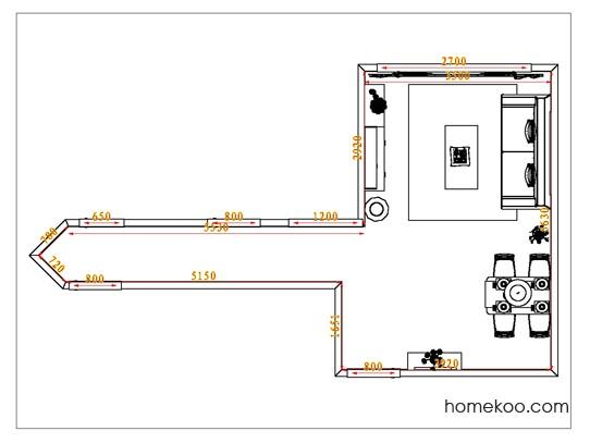 平面布置图斯玛特系列客餐厅G1016