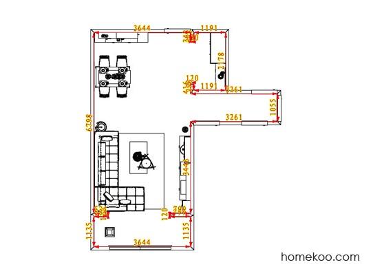 平面布置图乐维斯系列客餐厅G1023