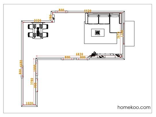 平面布置图格瑞丝系列客餐厅G1024