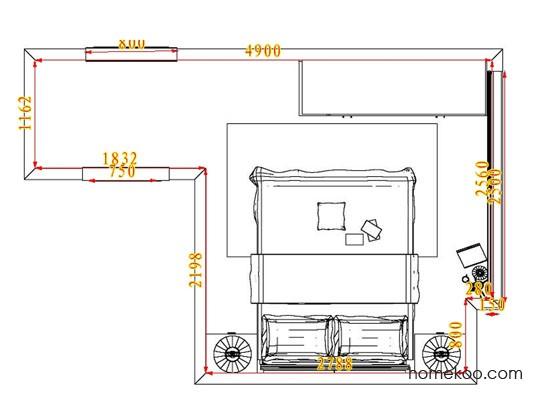 平面布置图格瑞丝系列卧房A3888