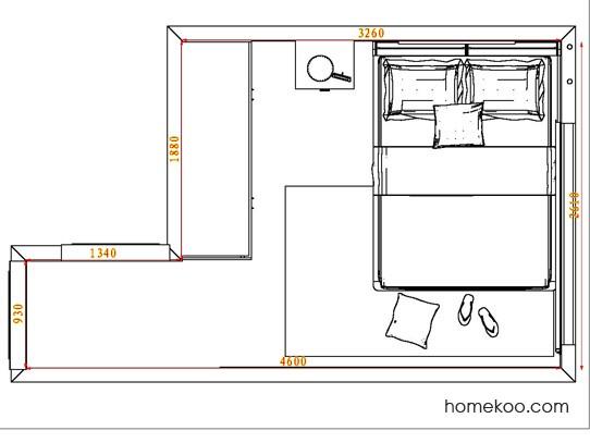 平面布置图柏俪兹系列卧房A3915