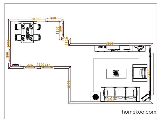 平面布置图德丽卡系列客餐厅G1032