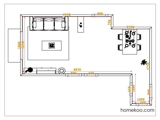 平面布置图贝斯特系列客餐厅G1033