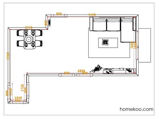 平面布置图斯玛特系列客餐厅G1034