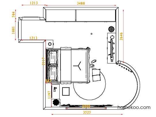 平面布置图斯玛特系列卧房A3961