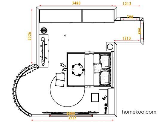 平面布置图乐维斯系列卧房A3993
