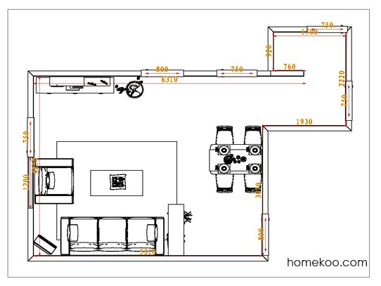 平面布置图乐维斯系列客餐厅G1073