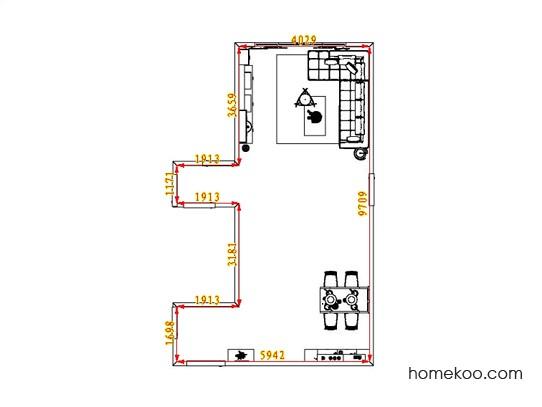 平面布置图柏俪兹系列客餐厅G1076