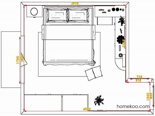 平面布置图乐维斯系列卧房A4149
