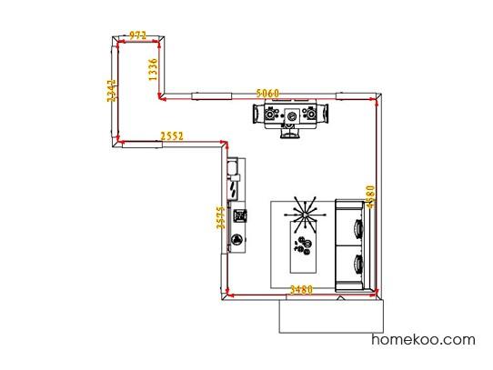 平面布置图斯玛特系列客餐厅G1104