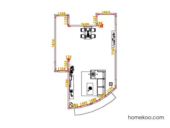 平面布置图柏俪兹系列客餐厅G1111