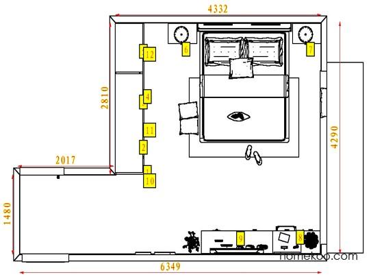 平面布置图乐维斯系列卧房A4355