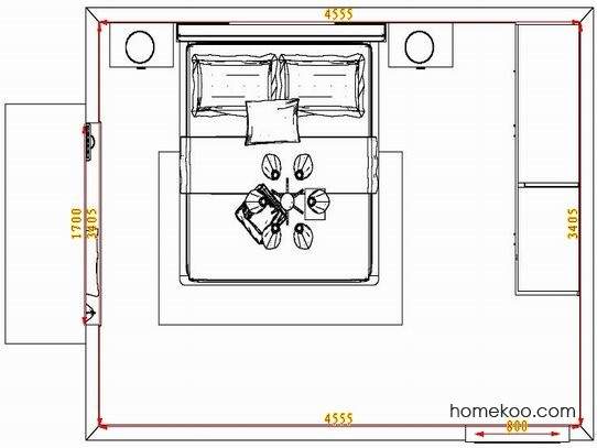平面布置图斯玛特系列卧房A4356