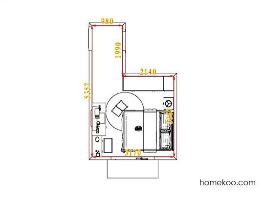 平面布置图斯玛特系列卧房A4370