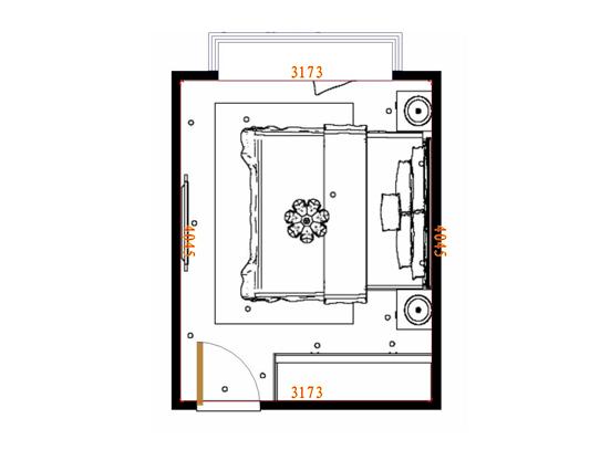 平面布置图柏俪兹系列卧房A4375