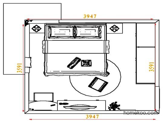 平面布置图格瑞丝系列卧房A4383