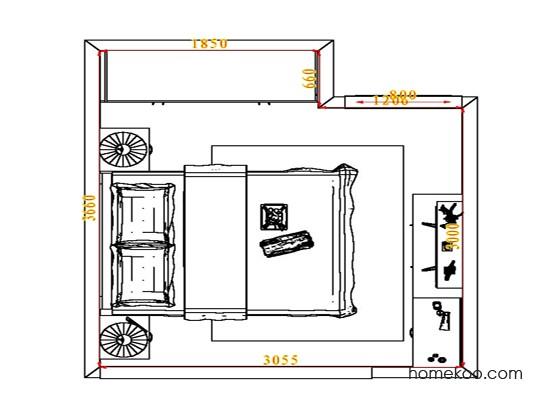 平面布置图乐维斯系列卧房A4480