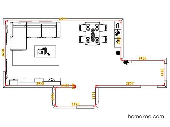 平面布置图斯玛特系列客餐厅G1156