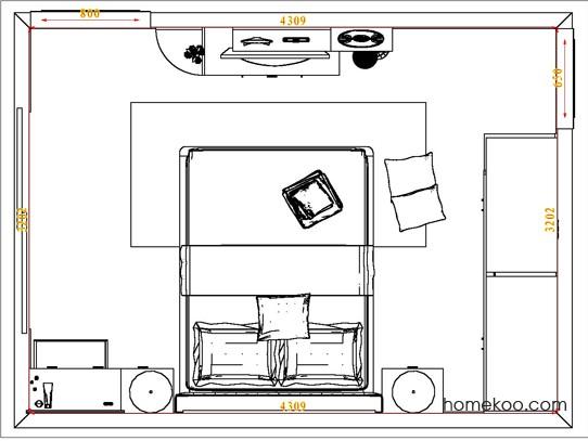 平面布置图斯玛特系列卧房A4670
