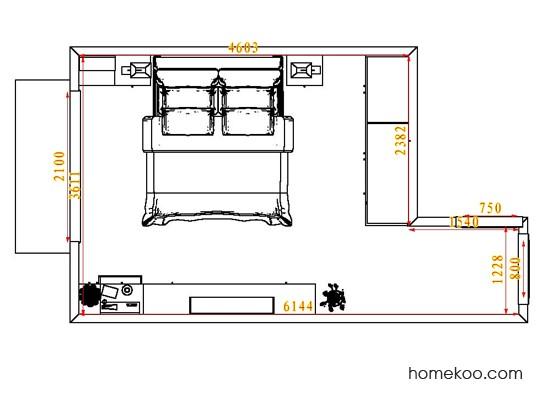 平面布置图柏俪兹系列卧房A4398