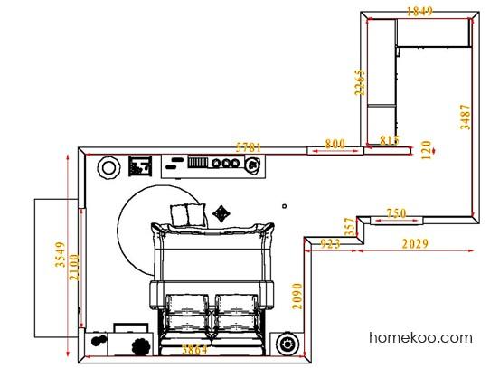 平面布置图德丽卡系列卧房A4408