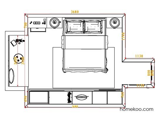 平面布置图柏俪兹系列卧房A4442