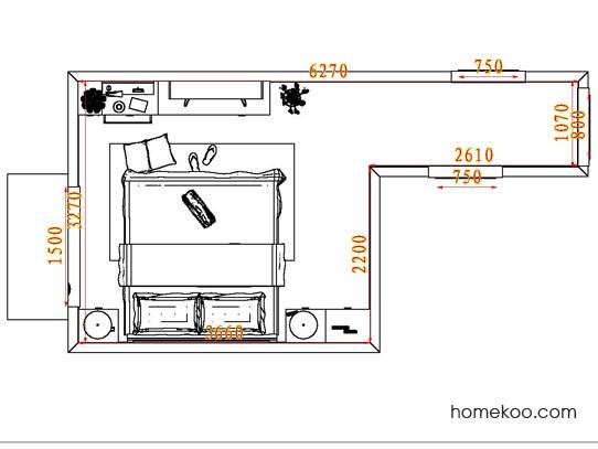 平面布置图贝斯特系列卧房A4452