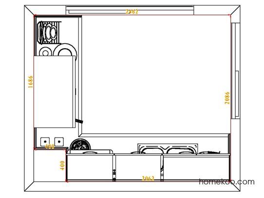 平面布置图柏俪兹系列厨房F3965