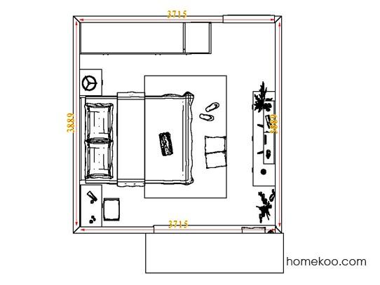 平面布置图德丽卡系列卧房A4467