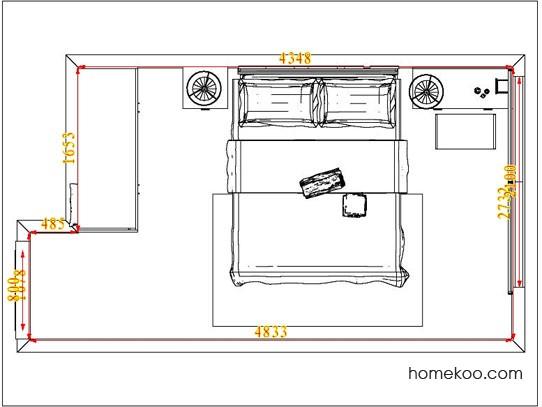 平面布置图德丽卡系列卧房A4488