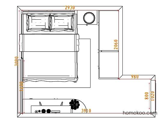 平面布置图斯玛特系列卧房A4502