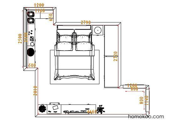 平面布置图乐维斯系列卧房A4507