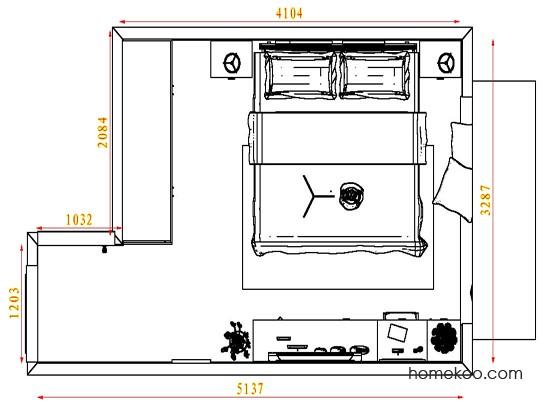 平面布置图格瑞丝系列卧房A4514
