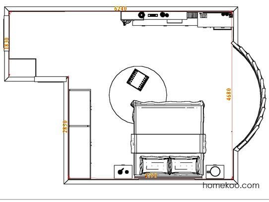 平面布置图斯玛特系列卧房A4523