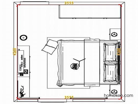 平面布置图柏俪兹系列卧房A4540