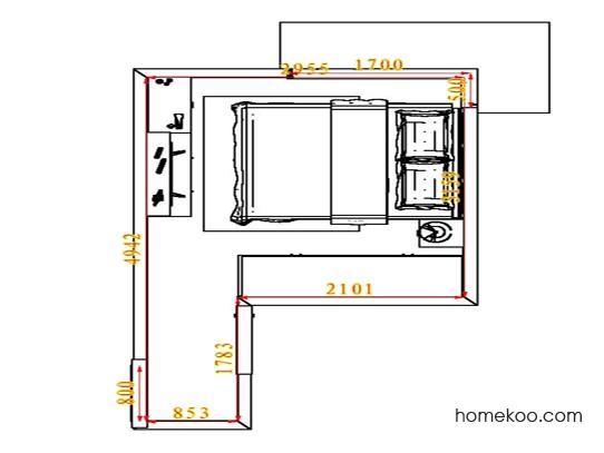 平面布置图格瑞丝系列卧房A4542