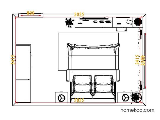 平面布置图斯玛特系列卧房A4561