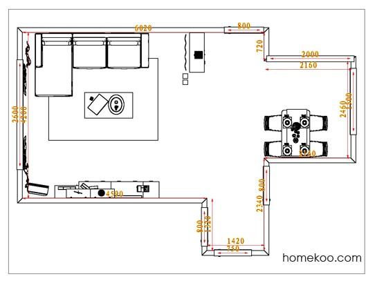 平面布置图斯玛特系列客餐厅G1138