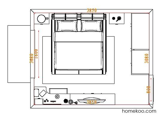 平面布置图柏俪兹系列卧房A4575